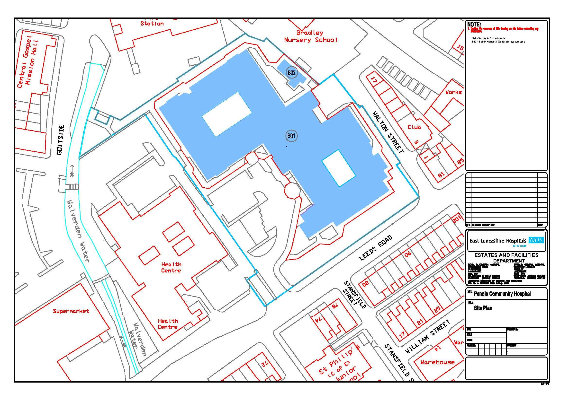 Location Maps :: East Lancashire Hospitals NHS Trust